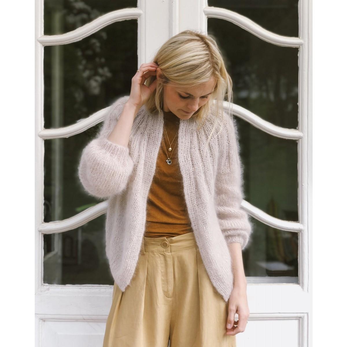 sunday cardigan mohair edition opskrift 33 - Lækre strikkekits fra PetiteKnit