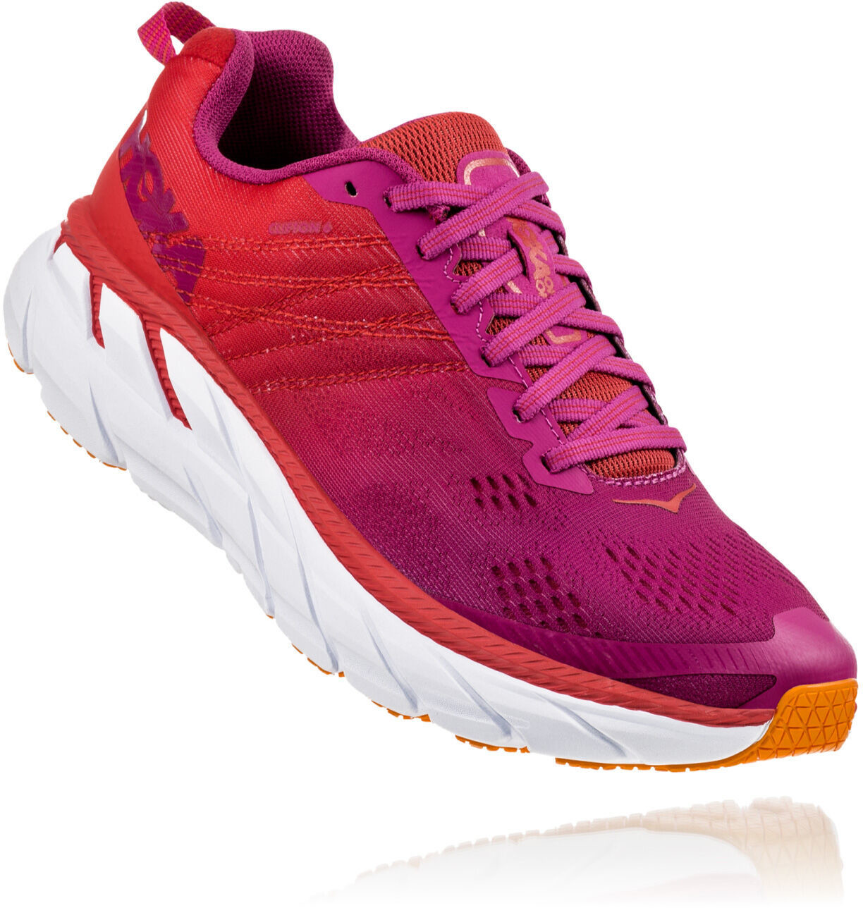 Hoka One One Clifton 6 Laufschuhe Damen poppy red cactus flower1920x1920 - Innovative løbesko med høje såler